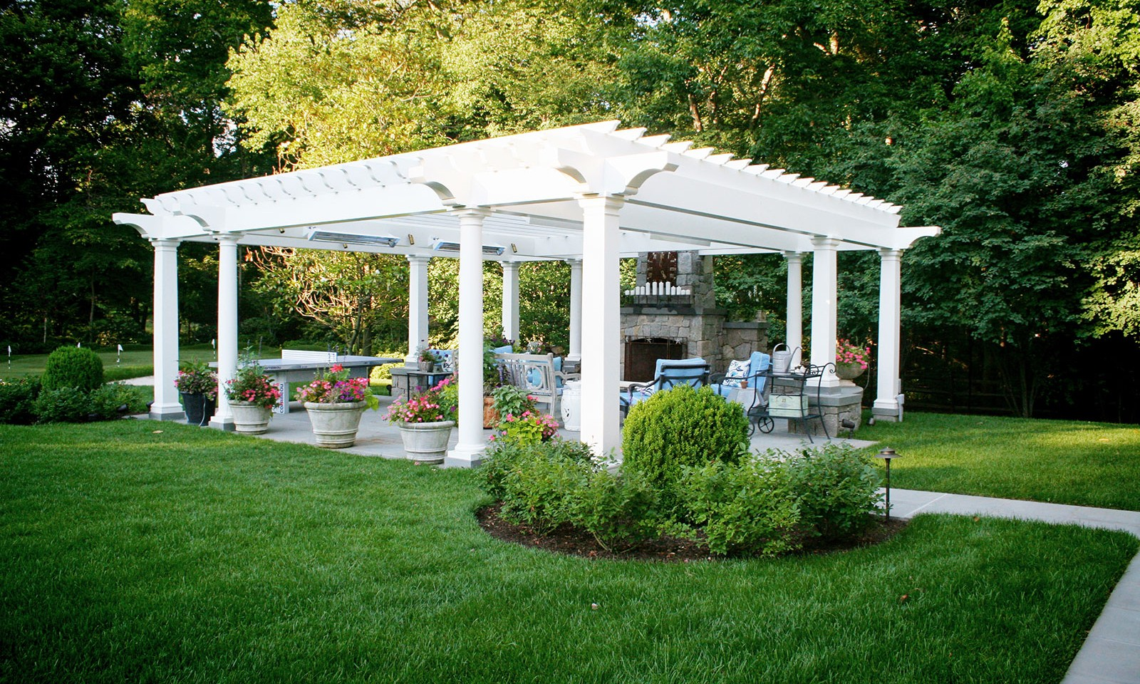Pergola Outdoor Fireplace