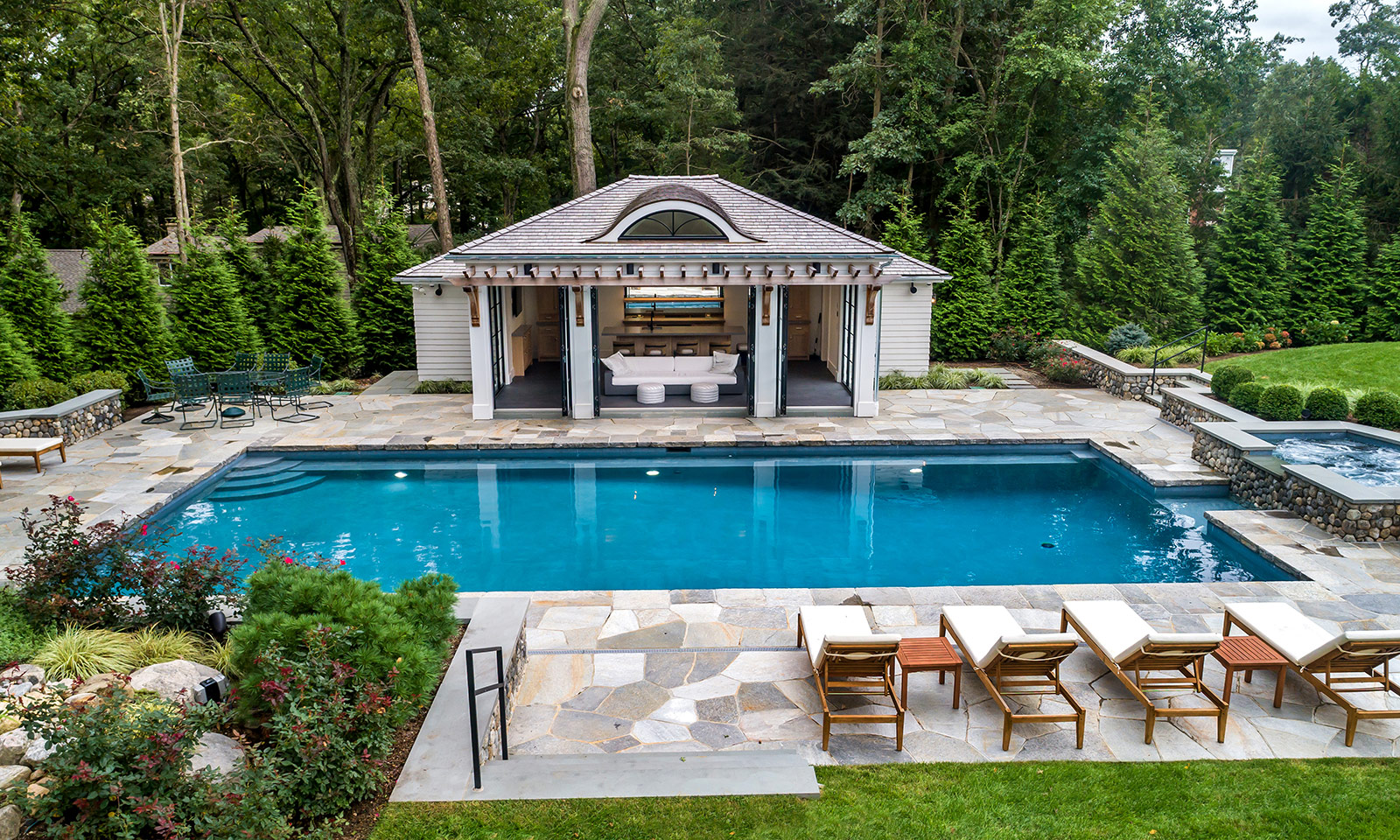 Custom pool house